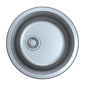 Omax Stainless Steel Kitchen Sink Round Single Bowl Undermount