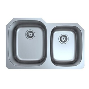 Omax Stainless Steel Kitchen Sink 60/40 Double Bowl Undermount