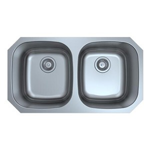 Omax Stainless Steel Kitchen Sink 50/50 Double Bowl Undermount