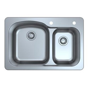 Omax Stainless Steel Kitchen Sink 60/40 Double Bowl Drop in