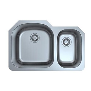 Omax Stainless Steel Kitchen Sink 70/30 Double Bowl Undermount