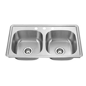 Omax 50/50 Stainless Steel Topmount Kitchen Sink