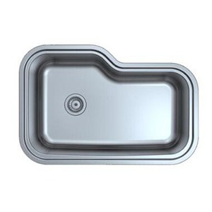 Omax Stainless Steel Kitchen Sink Single Bowl Curved Undermount