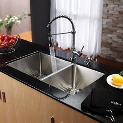 Omax 50/50 Stainless Steel Handmade Kitchen Sink