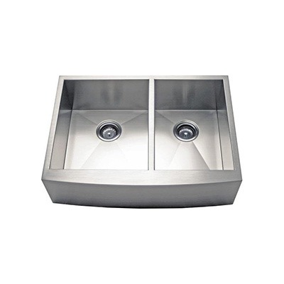 Omax 50/50 Stainless Steel Apron Kitchen Sink