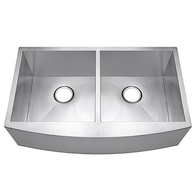 Omax 50/50 Farmhouse Stainless Steel Apron Kitchen Sink